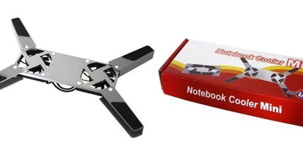 149 Kč za přenosnou mini chladící podložku pro notebook, která se vejde do každé kapsy se slevou 70 %