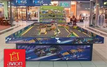 Zábavná jízda na autodráze v oblíbeném shopping parku avion jen za 30 kč + 10% sleva na nákup! Pouze 100 kupónů!!!