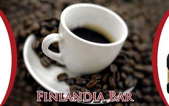 2x káva + 2x Bonaqua + 2x Carolans 0,04l ve Filnadia Baru v Pardubice za pouhých 92 Kč.
