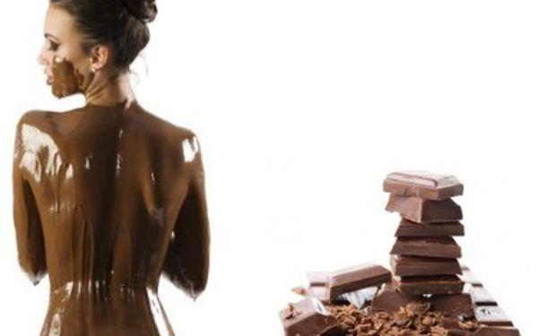 Čokoládové pokušení ( masáž zad , zábal, peeling)
