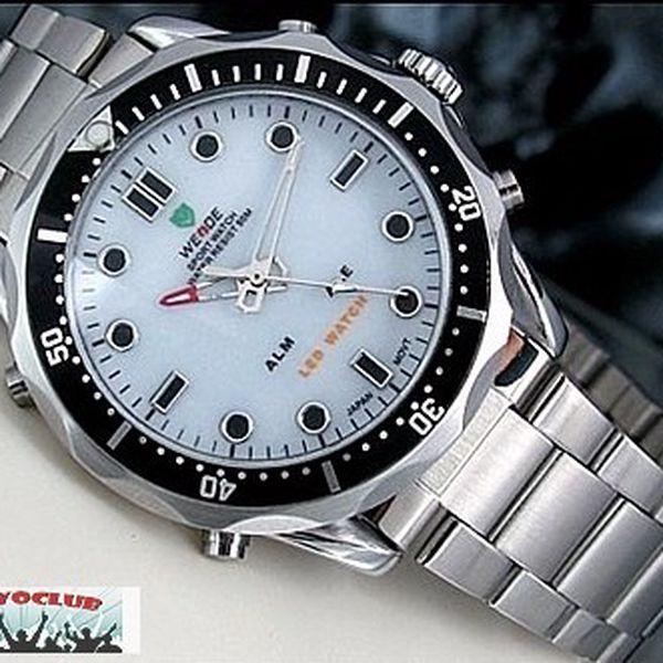 Pouze 399,- Kč značkové elegantní pánské hodinky Weide. Nyní akční sleva 80%! Pouze 20 kusů!