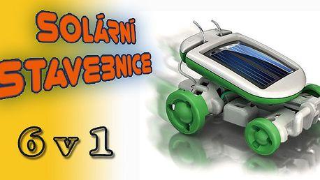 Solární stavebnice 6 v 1 za skvělou cenu. Postavte si Loď, Auto, Větrný mlýn, Letadlo, Pejska nebo Otáčející se letadlo.
