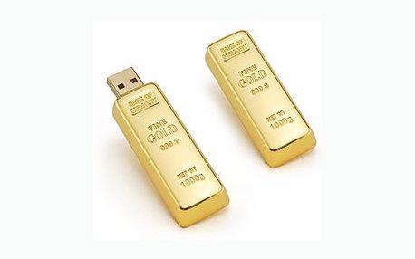 Dopřejte sobě nebo svým známým pocit luxusu. Za neuvěřitelných 399 můžete mít tento zlatý flash disk USB - Zlatou cihlu.