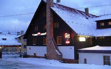 TÝDEN NA LYŽÍCH. Ubytování v hotelu se snídaní. 300 m od Krušnohorské magistrály, 6 km od Božího Daru a 12 km od SKI areálu Klínovec. Příjemný hotel s rodinnou atmosférou v lyžařském regionu Krušných hor. Užijte si pohodu, super lyžovačku a skvělé výlety po okolí.