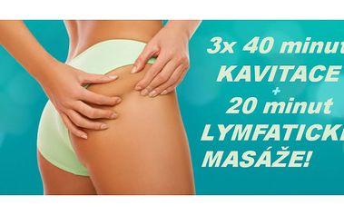 3x40 minut ! Využijte neinvazivní liposukce /kavitace/ pro zpevnění a zformování svého těla za prima cenu !