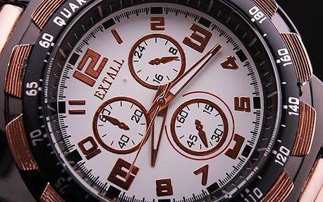 Jen 149 Kč - sleva 70% na pánské hodinky značky EXTALL. Poštovné ZDARMA! 5 druhů na výběr. Světová novinka mezi fashion značkami!