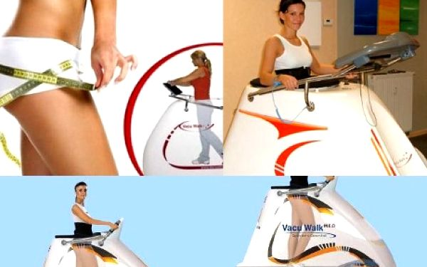 Vacu walk - účinná metoda k léčbě celulitidy- 30 minut za 125 Kč! Studio Fitness Power pro Vás připravilo neuvěřitelnou slevu na 30 minut chůze v podtlakovém prostoru přístroje Vacu walk. Skvělá příležitost, jak o prázdninách shodit to nadměrné kilčo, které Vás možná trápí.