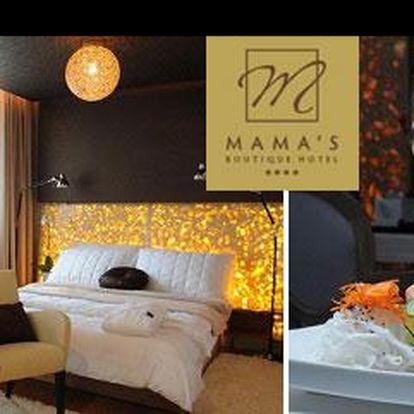 Užij si nezapomenutelný luxusní víkend v srdci Bratislavy s 49% slevou! Za 2 744 Kč Tě čeká 3 denní pobyt v luxusním ****Hotelu Mama´s pro 2 osoby se snídaní a wellnes!