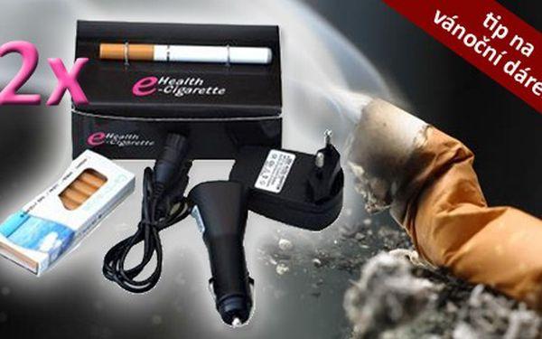NEKUŘTE! Jen 359 Kč vč. poštovného za 2 elektronické cigarety, 10 náplní, USB kabel pro nabíjení, autonabíječku a adaptér pro nabíjení z elektrické sítě! Jedinečná nabídka, která Vám pomůže přestat kouřit! Zdraví máme jenom jedno, važme si ho!
