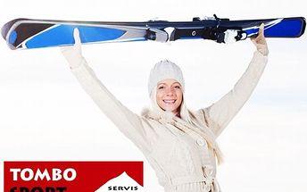 Zima se blíží – co dělají vaše lyže? Dopřejte jim broušení, očištění a vyplnění děr na skluznicích, broušení hran a závěrečné navoskování a vyleštění za skvělých 234 Kč!