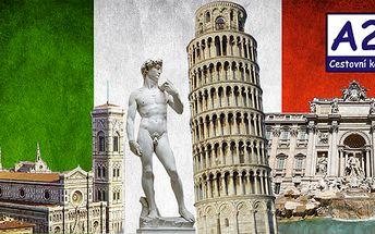 5 - denní poznávací zájezd do Itálie: Řím – Vatikán – Florencie – Pisa! Odjezd 26. 10! Pouze 30 míst k dispozici!