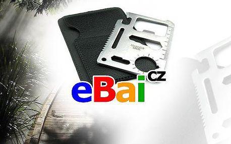 85Kč za survival kartu na přežití multifunkce do peněženky. Sleva 56% jen na www.eBai.cz! Karta je dodávána včetně pouzdra. Ideální do peněženky, také ji lze připnout na klíče.