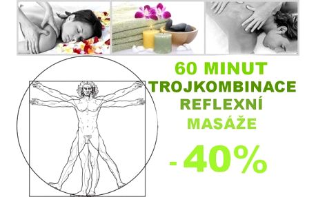 Dopřejte si luxus uvolnění s prastarou a široce uznávanou terapií-reflexní masáží nohou/rukou, krční páteře a hlavy!