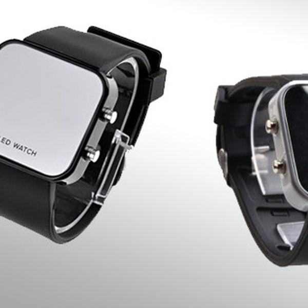 Zrcadlové LED hodinky v černé barvě ohromí Vás i Vaše okolí, místo ciferníku stylové zrcátko! Poštovné pouze 25 Kč!