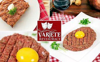 Nemáte nikdy dost gastronomických zážitků? Okuste 200 g tataráčku z argentinských býčků. S 52% slevou si pochutnejte na 200 g tataráku se 4 křupavými topinkami v restauraci Varieté.
