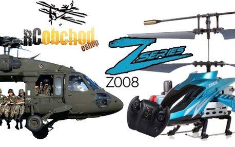 Výborný RC model vrtulníku - Avatar Z008 RTF! Inspirován filmem AVATAR! Jeden z nejprodávanějších RC modelů!