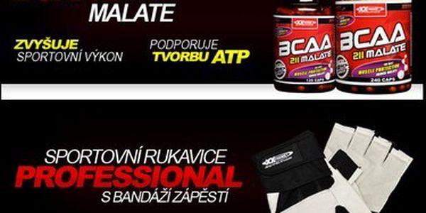 Více energie, méně únavy! 2 x BCAA MALATE 120 kapslí nebo 1 x BCAA MALATE 120 kapslí a profesionální sportovní rukavice s bandáží zápěstí