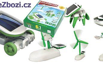 Solární stavebnice robota SolarBot 6v1! Geniální hračka, spojující zábavu a vzdělaní, je vyhledávána malými i velkými konstruktéry