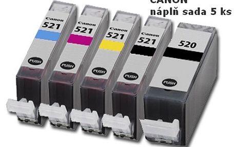 Sada 5 kusů náplní do tiskáren CANON za neskutečných 168,-Kč! Trápí Vás vysoké ceny inkoustových náplní? Již nemusí! U nás nakoupíte za skvělou cenu sadu 5 kusů náplní pro tiskárny Canon! Využijte naší neopakovatelné slevy 42%!