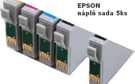 Sada 5 kusů náplní do tiskáren EPSON za neskutečných 129,-Kč! Trápí Vás vysoké ceny inkoustových náplní? Již nemusí! U nás nakoupíte za skvělou cenu sadu 5 kusů náplní pro tiskárny Epson! Využijte naší neopakovatelné slevy 35%!