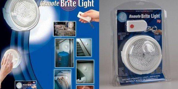 Spolehlivé osvětlení pro případ nouze a výpadu proudu. Revoluční světlo na dálkové ovládání REMOTE BRITE LIGHT – dotyková lampa s dálkovým ovladačem