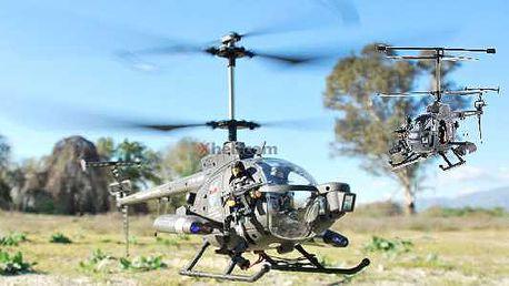 RC model vrtulníku Deffender GYRO RTF, cvičný model s ovládanou směrovkou, výškovkou a motorem, ideální pro začínající i náročnější vrtulníkáře!