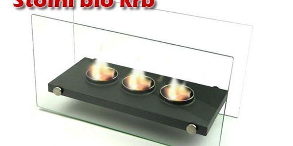 Potěšení ze živého ohně v teple vašeho domova. Překrásný skleněný krb s impozantním designem a třemi plameny. Bio krb Go-To Glass 3-fire.