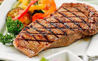NABÍDKA PŘÍMO K SEŽRÁNÍ!! 2 x 300g MEGA ARGENTINSKÝ RUMPSTEAK z kvalitního hovězího masa argentinského plemene Abeerden Angus + dvě přílohy dle vašeho výběru ZA SKANDÁLNÍ CENU 350Kč!! Podrážděte chuťové buňky se slevou 60 %!