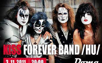 """Máte rádi nesmrtelné """"KISSÁKY""""? Za 85 Kč se můžete stát jejich diváky. 50% sleva na koncert nejlepší Kiss revivalové kapely světa v ústeckém Music clubu DOMA."""