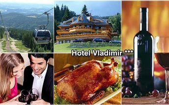 LIMITOVANÁ NABÍDKA! Jen 2 550 Kč za KRÁSNÝ Svatomartinský víkend v hotelu Vladimír včetně polopenze, jízdenek lanovkou na Černou horu, infrasauny a speciálního svatomartinského menu s lahví svatomartinského vína. NEZAPOMENUTELNÝ POBYT PRO VÁS SE SLEVOU 43 %!