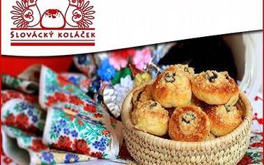 Slovácké koláčky pro mlsné jazýčky! Objednejte si 100 kusů tvarohových koláčků za skvělou cenu 385 Kč místo 550 Kč. Pochutnejte si na delikatese, která se honosí oceněním PERLA ZLÍNSKA!