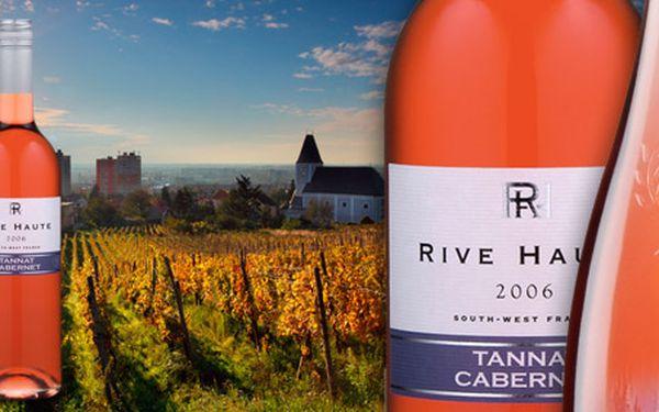 Jen 199 Kč za DVĚ znamenitá francouzská vína. Cabernet d´Anjou 2010 a Tannat Cabernet Sauvignon rosé 2010 se slevou 48 %.