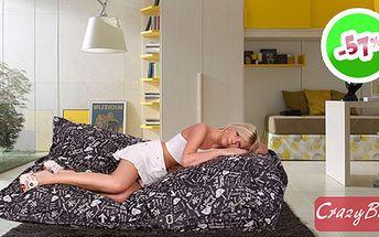 Pořiďte si trendy sedací pytel CrazyBag INDOOR (178x140 cm) za 1499 Kč. Perfektní designový doplněk k vám domů nebo skvělý dárek!