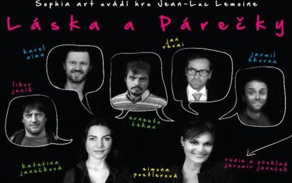 """Divadelní komedie """"Láska a párečky"""" 2. listopadu v 19:00 se Simonou Postlerovou. Mistrovsky napsaná komedie se skvělými výkony herců Divadla U Hasičů"""