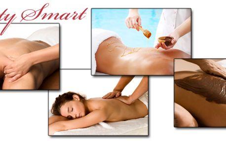 30 minutová medová masáž, čokoládová masáž, sportovní masáž nebo relaxační masáž v salónu v centru Prahy!