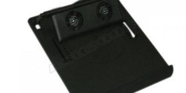 Chladící podložka pod notebook - černá + 2x větráček za 189kč včetně poštovného!
