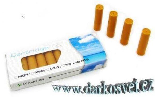 Náplně do elektronické cigarety - 10ks - 4druhy za 89kč včetně poštovného!