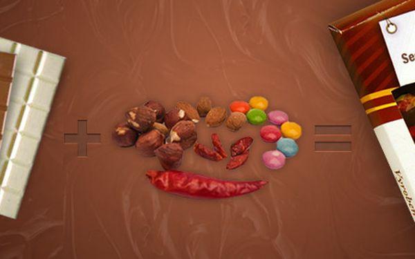 149 Kč za luxusní ručně vyráběnou čokoládu na míru. Oříšky, květy růží, mandle, chilli i další příchutě. Vtipný dárek se slevou 33 %.
