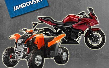 Celodenní zapůjčení čtyřkolky nebo motorky bez omezení kilometrů! Skvělá zábava až do jara 2012 za neuvěřitelných 999 Kč! To bude jízda dámy a pánové! TIP na vánoční dárek!