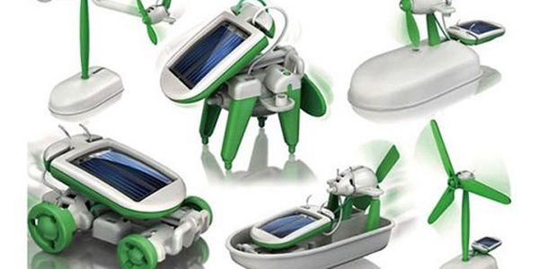 SOLÁRNÍ STAVEBNICE 6 v 1 pro malé i velké! Zábavný, ale zároveň naučný model hračky, který Vám pomůže porozumět úžasné síle slunce! Už žádné baterie! Skvělý dárek!
