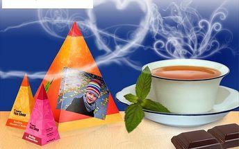 Kvalitní sypaný čaj a belgické čokoládky v krabičce potištěné vaší vlastní fotografií a textem jen za 190 Kč. Originální dárek pro vaše blízké se slevou 51 %!