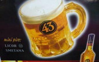 Pití nejen pro holky! METR MINIPIV!!! Licor 43 + čepice smetany, přijďte si užít skvělou zábavu do baru ŠPUNT v Mostě!