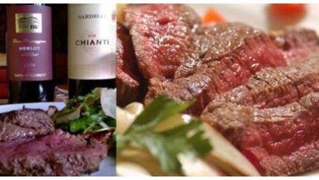 """Úžasná nabídka!!! Jen 225 Kč za 2x 250 gr. hovězího steaku """"Argentina"""" s hranolky"""