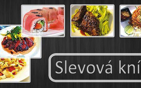 Gastro slevová knížka na 10 vybraných restaurací v Praze se super slevou 70 %