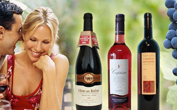299 Kč za TŘI kvalitní francouzská vína nejen pro výjimečné příležitosti se slevou 35 %.
