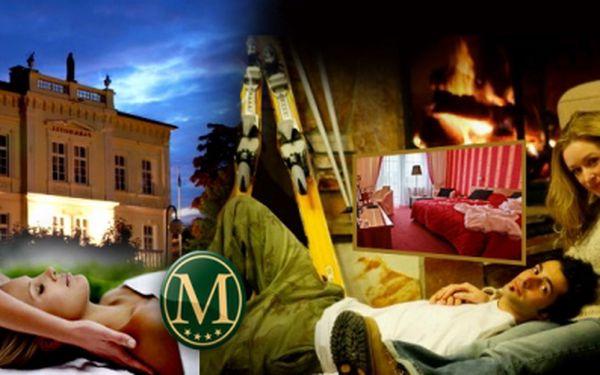 Luxusní lyžařský 3-denní pobyt s WELLNESS a POLOPENZÍ v hotelu Morris**** Nový Bor, jen za 3199 Kč pro dva! V ceně SKIPASS a léčebné procedury! Sleva 50%!