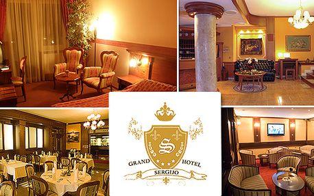 2500 Kč za 3 denní relaxační pobyt pro 2 osoby v GRAND HOTELU SERGIJO**** v Piešťanech na Slovensku. V cene polopenze, beauty a wellness.