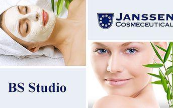 299 Kč za celkové ošetření kvalitní kosmetikou JANSSEN v BS Studiu včetně masáže, vyhlazujícího séra a pěstící masky. Hýčkejte svou pleť a buďte krásnější! HyperSleva 50 %.