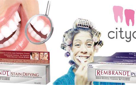 Bělící zubní pasta Rembrandt s aktivními látkami pro zesvětlující efekt, pomáhá předcházet zubnímu plaku, bojuje proti zubnímu kazu a udržuje zdravé dásně! Nejstarší značka zabývající se bělením na světě!