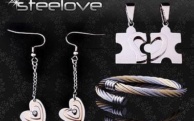 Vyberte si stylový doplněk! Šperk, který Vás charakterizuje navenek. 50% sleva na nákup stylových šperků z chirurgické oceli v internetovém obchodě STEELOVE.